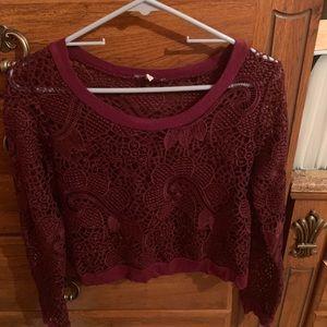NEW lace shirt size M